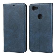 Handytasche Stand Schutzhülle Leder Hülle für Google Pixel 3a XL Blau
