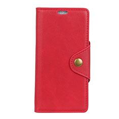 Handytasche Stand Schutzhülle Leder Hülle für HTC Desire 12 Plus Rot