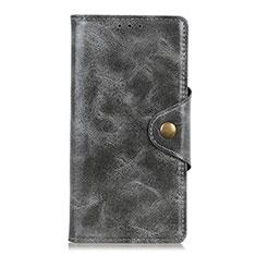 Handytasche Stand Schutzhülle Leder Hülle für HTC Desire 19 Plus Grau