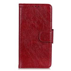 Handytasche Stand Schutzhülle Leder Hülle für HTC Desire 19 Plus Rot