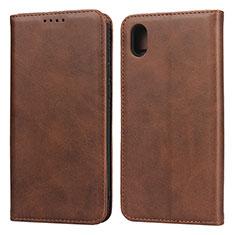 Handytasche Stand Schutzhülle Leder Hülle für Huawei Enjoy 8S Braun