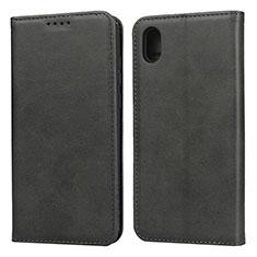 Handytasche Stand Schutzhülle Leder Hülle für Huawei Enjoy 8S Schwarz