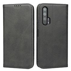Handytasche Stand Schutzhülle Leder Hülle für Huawei Honor 20 Pro Schwarz