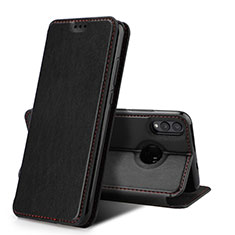 Handytasche Stand Schutzhülle Leder Hülle für Huawei Honor 8X Schwarz