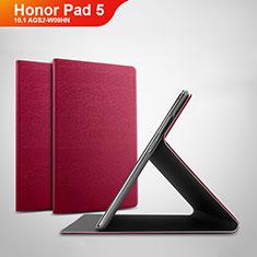 Handytasche Stand Schutzhülle Leder Hülle für Huawei Honor Pad 5 10.1 AGS2-W09HN AGS2-AL00HN Rot