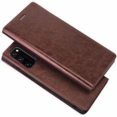 Handytasche Stand Schutzhülle Leder Hülle für Huawei Honor V30 Pro 5G Braun