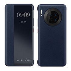 Handytasche Stand Schutzhülle Leder Hülle für Huawei Mate 30 5G Blau