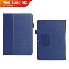 Handytasche Stand Schutzhülle Leder Hülle für Huawei MediaPad M2 10.0 M2-A10L Blau