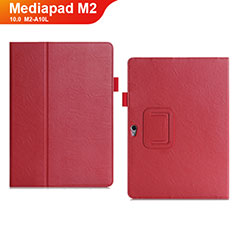 Handytasche Stand Schutzhülle Leder Hülle für Huawei MediaPad M2 10.0 M2-A10L Rot
