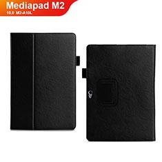 Handytasche Stand Schutzhülle Leder Hülle für Huawei MediaPad M2 10.0 M2-A10L Schwarz