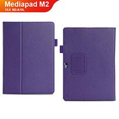 Handytasche Stand Schutzhülle Leder Hülle für Huawei MediaPad M2 10.0 M2-A10L Violett