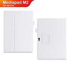 Handytasche Stand Schutzhülle Leder Hülle für Huawei MediaPad M2 10.0 M2-A10L Weiß