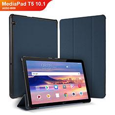 Handytasche Stand Schutzhülle Leder Hülle für Huawei MediaPad T5 10.1 AGS2-W09 Blau