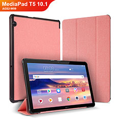 Handytasche Stand Schutzhülle Leder Hülle für Huawei MediaPad T5 10.1 AGS2-W09 Rosa