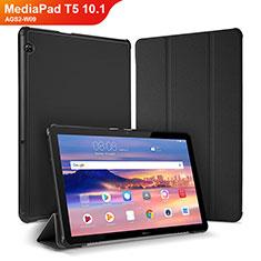 Handytasche Stand Schutzhülle Leder Hülle für Huawei MediaPad T5 10.1 AGS2-W09 Schwarz