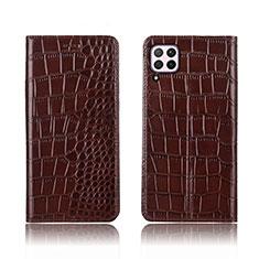 Handytasche Stand Schutzhülle Leder Hülle für Huawei Nova 6 SE Braun
