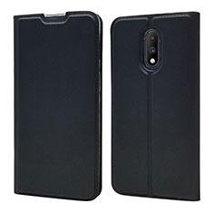 Handytasche Stand Schutzhülle Leder Hülle für OnePlus 7 Schwarz