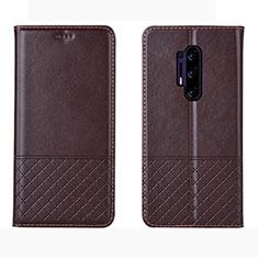 Handytasche Stand Schutzhülle Leder Hülle für OnePlus 8 Pro Braun