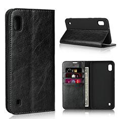 Handytasche Stand Schutzhülle Leder Hülle für Samsung Galaxy A10 Schwarz