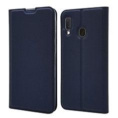 Handytasche Stand Schutzhülle Leder Hülle für Samsung Galaxy A20e Blau