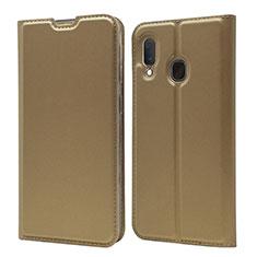 Handytasche Stand Schutzhülle Leder Hülle für Samsung Galaxy A20e Gold