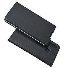 Handytasche Stand Schutzhülle Leder Hülle für Samsung Galaxy A30 Schwarz