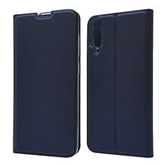 Handytasche Stand Schutzhülle Leder Hülle für Samsung Galaxy A70 Blau
