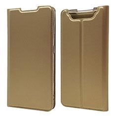 Handytasche Stand Schutzhülle Leder Hülle für Samsung Galaxy A80 Gold