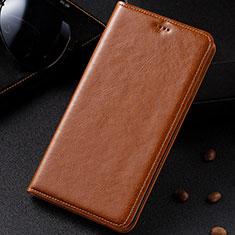 Handytasche Stand Schutzhülle Leder Hülle für Samsung Galaxy A81 Orange