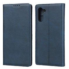Handytasche Stand Schutzhülle Leder Hülle für Samsung Galaxy Note 10 Blau