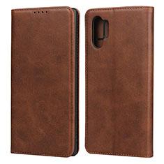 Handytasche Stand Schutzhülle Leder Hülle für Samsung Galaxy Note 10 Plus 5G Braun