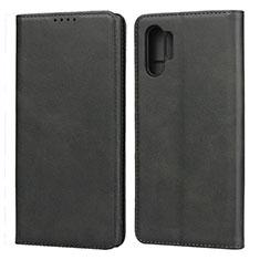 Handytasche Stand Schutzhülle Leder Hülle für Samsung Galaxy Note 10 Plus 5G Schwarz