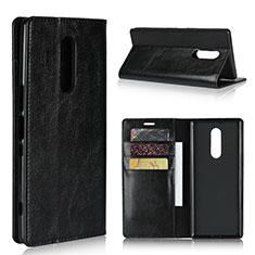 Handytasche Stand Schutzhülle Leder Hülle für Sony Xperia 1 Schwarz