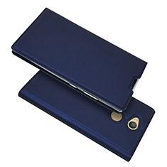 Handytasche Stand Schutzhülle Leder Hülle für Sony Xperia L2 Blau