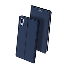 Handytasche Stand Schutzhülle Leder Hülle für Sony Xperia L3 Blau