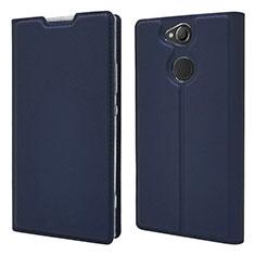 Handytasche Stand Schutzhülle Leder Hülle für Sony Xperia XA2 Blau