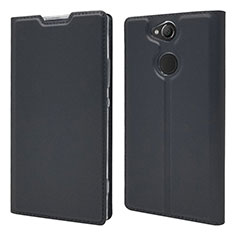 Handytasche Stand Schutzhülle Leder Hülle für Sony Xperia XA2 Plus Schwarz