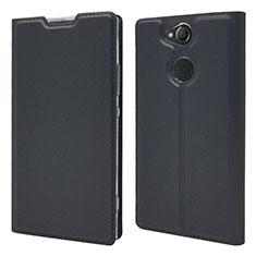 Handytasche Stand Schutzhülle Leder Hülle für Sony Xperia XA2 Schwarz