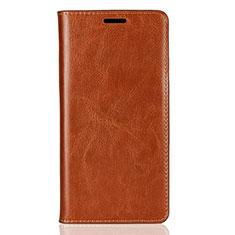 Handytasche Stand Schutzhülle Leder Hülle für Sony Xperia XZ2 Orange