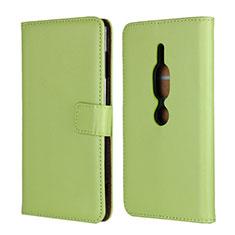 Handytasche Stand Schutzhülle Leder Hülle für Sony Xperia XZ2 Premium Grün