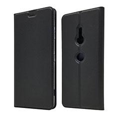 Handytasche Stand Schutzhülle Leder Hülle für Sony Xperia XZ3 Schwarz