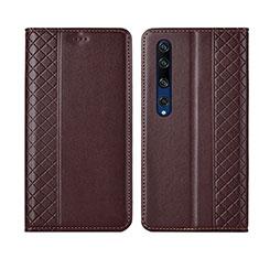 Handytasche Stand Schutzhülle Leder Hülle für Xiaomi Mi 10 Braun