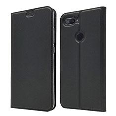 Handytasche Stand Schutzhülle Leder Hülle für Xiaomi Mi 8 Lite Schwarz