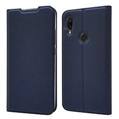 Handytasche Stand Schutzhülle Leder Hülle für Xiaomi Redmi 7 Blau