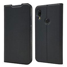Handytasche Stand Schutzhülle Leder Hülle für Xiaomi Redmi 7 Schwarz