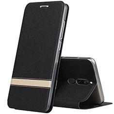 Handytasche Stand Schutzhülle Leder Hülle für Xiaomi Redmi 8 Schwarz