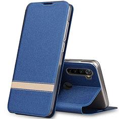 Handytasche Stand Schutzhülle Leder Hülle für Xiaomi Redmi Note 8 Blau