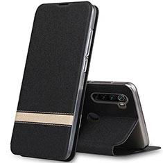 Handytasche Stand Schutzhülle Leder Hülle für Xiaomi Redmi Note 8 Schwarz