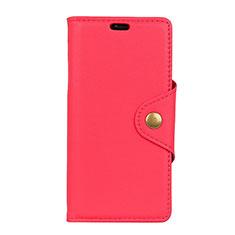 Handytasche Stand Schutzhülle Leder Hülle L01 für Alcatel 1 Rot