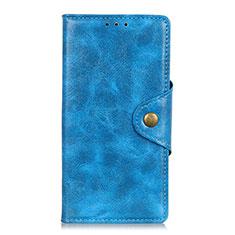 Handytasche Stand Schutzhülle Leder Hülle L01 für Alcatel 1C (2019) Blau